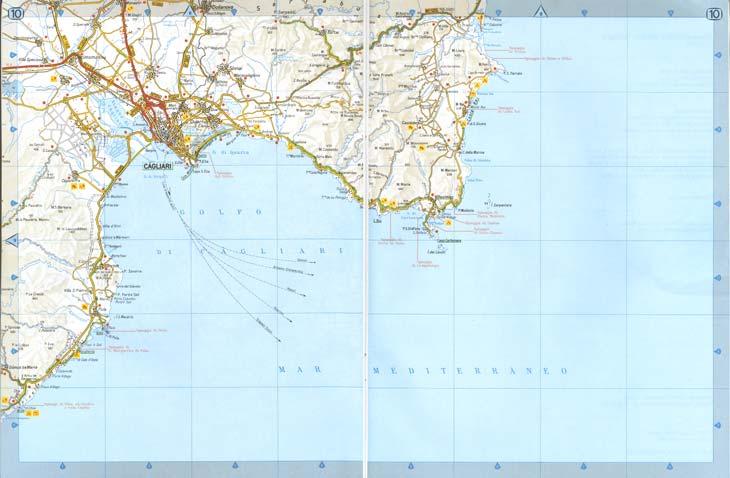 Villasimius Cartina Sardegna Sud.Cartina Sardegna Sud Orientale Villasimius