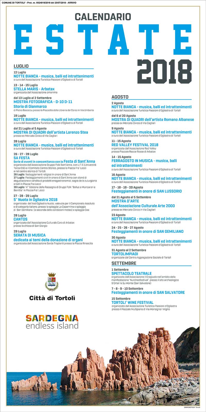 eventi estate 2018 tortoli