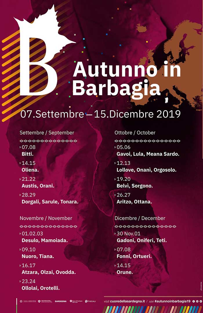 Calendario Novembre Dicembre 2019.Calendario Autunno In Barbagia 2019
