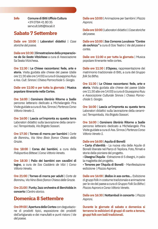 Calendario Cortes Apertas 2019.Autunno In Barbagia 2019 A Bitti Il 7 E 8 Settembre
