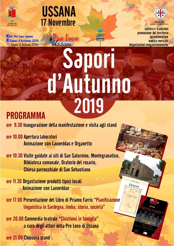 Cartina Sardegna Ussana.Sapori D Autunno 2019 A Ussana Il 17 Novembre