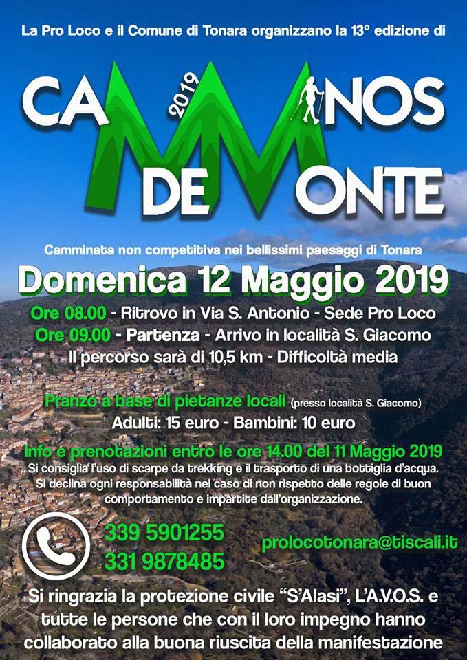 Cartina Sardegna Tonara.Camminos De Monte 2019 Il 12 Maggio A Tonara