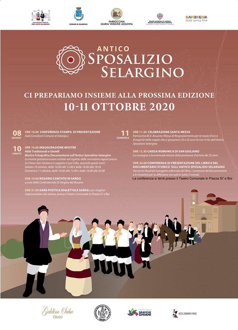 Appuntamento a Selargius il 10 e 11 ottobre con l'Antico Sposalizio Selargino, scopri il programma completo.