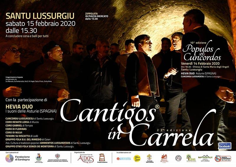 Cantigos in Carrela 2020 a Santu Lussurgiu