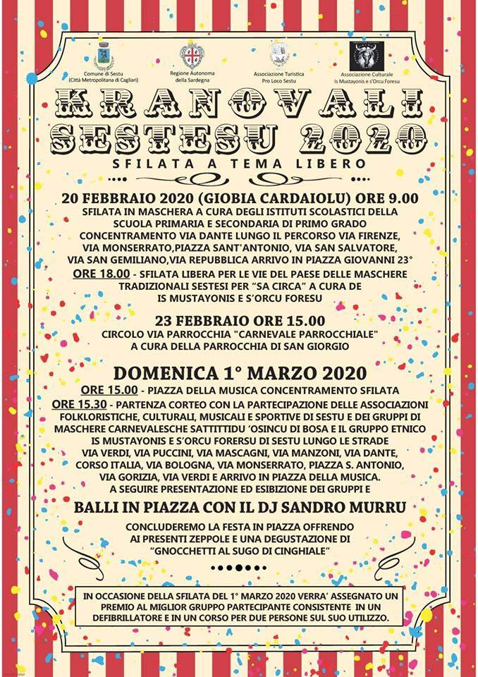 Carnevale 2020 a Sestu