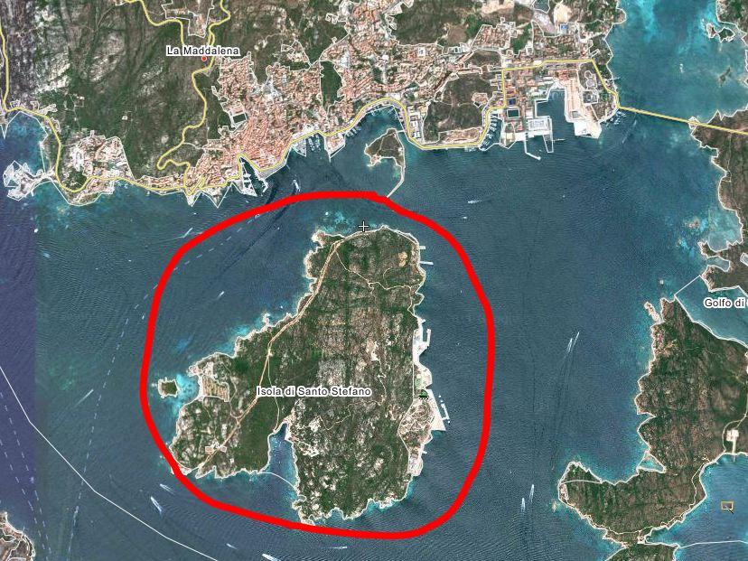Isola Santo Stefano Italy  City new picture : La Maddalena: Tar Elimina la Servitù militare di Guardia del Moro
