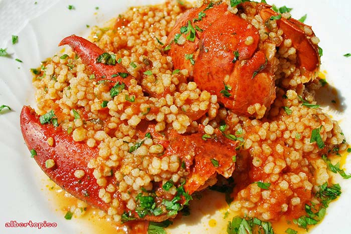 Fregola all astice for Ricette sarde