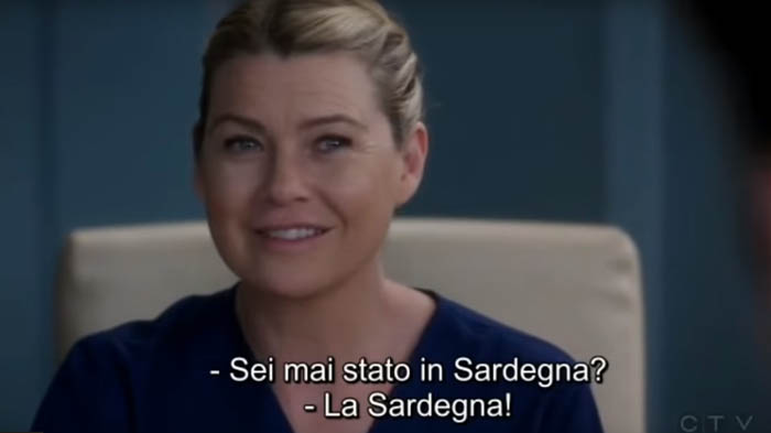 sardegna greys anatomy