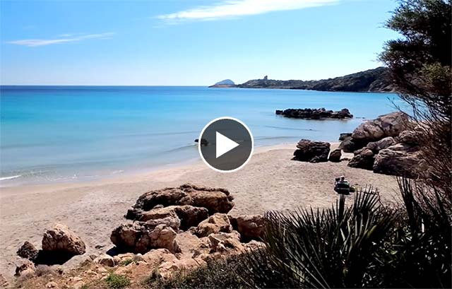 video Spiaggia Coaquaddus Sant Antioco