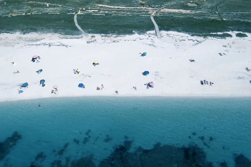 video spiaggia is arutas drone